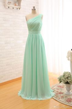 I found some amazing stuff, open it to learn more! Don't wait:http://m.dhgate.com/product/mint-green-long-chiffon-a-line-pleated-bridesmaid/377183764.html