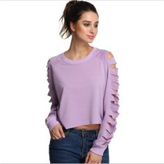 Zoon Cutout Cropped Pullover Sweatshirt  #chic #cutout #fashion #style #jewelry #backless #winter #obsessed #bag #purse
