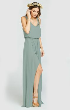 The Kendall Maxi. A soft V neck and low back are ultra feminine and flatter every body, the wrap around skirt that creates a slit lets you pull an Angelina stance whenever you need (you never know when you're gonna need it). Chill enough for a little pointy toed bootie and classy enough for an elegant heel. Kendall may be a young Mu but she is def on track to be your new go-to maxi.
