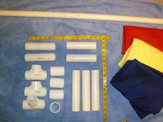 How to make your own den flag pole/stand out of PVC pipe.