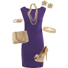 """Purple and Gold"" by lizzygirl07 on Polyvore"