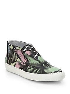 Pierre Hardy - Lily Leather High-Top Skate Sneakers