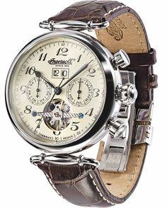 INGERSOLL Automatic Walldorf Brown Leather Strap - IN1312CR - oroloi.gr