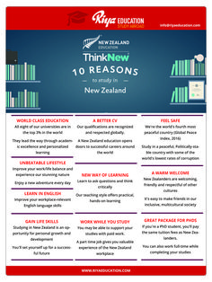10 Reasons to study in New Zealand!!! Get in touch with Riya Education for study abroad programs