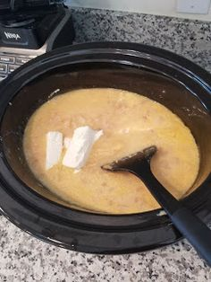 1 bag of frozen diced hashbrowns 1 32 oz. box of chicken broth 1 22 oz. can of cream of chicken soup Slow Cooker Recipes, Crockpot Recipes, Soup Recipes, Cooking Recipes, Potato Recipes, Easy Recipes, Chicken Recipes, Recipies, Crock Pot Potatoes