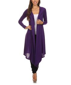 This Purple Burnout Hooded Open Duster is perfect! #zulilyfinds