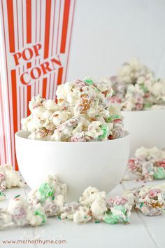 white chocolate popcorn from @Jennifer | Mother Thyme