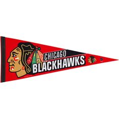 Chicago Blackhawks 12'' x 30'' Premium Pennant - Red - $7.99