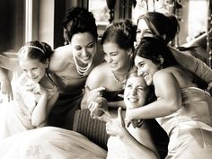 I love the color of this photo, the smiles, the goofiness, and the haphazard way the girls are huddled together.