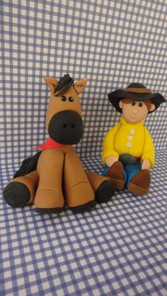 Cowboy and horse cake topper by SweetRetreatss on Etsy, $50.00