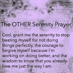 The other serenity prayer « I Am My Own Island