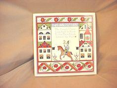 Unusual Berggren Tile Trivet seller florasgarden on ebay  Hey Diddle My Middle 6 inch Vtg
