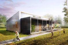 House from upcycled material: Lendager Arkitekter, Denmark