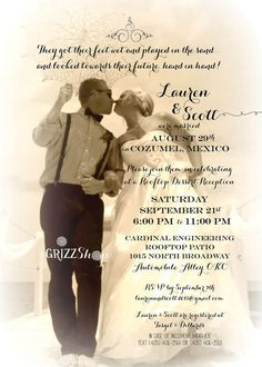 Rawhide Wedding Reception Invitation