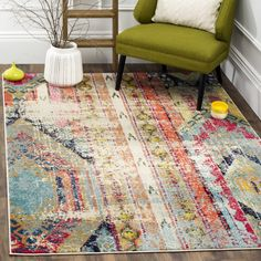 The Curated Nomad Bernal Vintage Bohemian Multicolored Rug (5'1 x 7'7) - Free Shipping Today - Overstock.com - 17559057