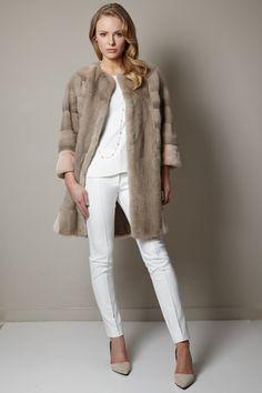 Real Rabbit Fur Lined Parka Coats for Women - London – MILA FURS ...