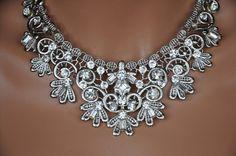 Wedding Statement NecklaceSwarovski Crystal by cynthiacouture