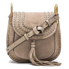 """Small Suede Hudson Bag by Chloe. Calfskin suede with raw lining and gold-tone hardware.  Made in Italy.  Measures approx 9""""""""W x 9""""""""H x 3.25""""""""D.  Adjus..."""