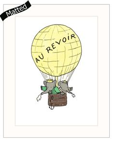 Hey, I found this really awesome Etsy listing at https://www.etsy.com/listing/161465813/french-nursery-art-wmat-hot-air-balloon
