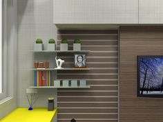 Projeto de home theater com home office