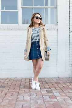10 formas de combinar tu falda de mezclilla en verano - Mujer de 10