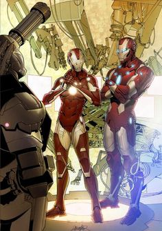 Ironman ( Tony Stark ) RESCUE ( Pepper Potts ) And War Machine ( Rhodes )