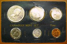 CANADA 1960 6-PIECE UNCIRCULATED COIN SET WITH SILVER - IN COMPOSITE HOLDER