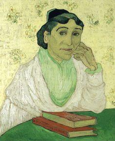 Portrait of Madame Ginoux (L'Arlesienne) by @artistvangogh #postimpressionism