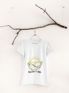 Keep it real by adding this design to your wardrobe! Keep It Real, Van Life, Men's Clothing, Tees, Shopping, Clothes, Design, Fashion, Moda