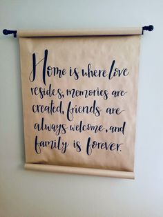 Butcher paper resides, memories are created, friends are always welcome, and family is forever Hand Lettering calligraphy script sharpie chalkboard chalk art marker sharpie antique decor vintage roll Sharpie Markers, Butcher Paper, Families Are Forever, Cricut Explore Air, Antique Decor, Love Craft, Marker Art, Chalkboard Art, Chalk Art