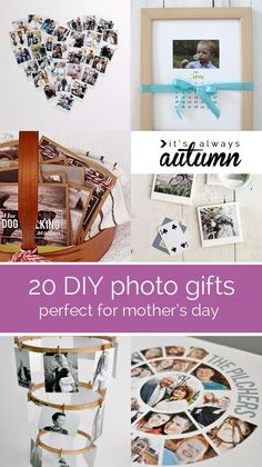 20 fantastic DIY photo gifts perfect for mother's day or grandparents - 20 beautiful DIY ideas – find great tutorials for making gifts involving photos – - Diy Photo, Photo Craft, Photo Ideas, Creative Gifts, Cool Gifts, Photo Projects, Craft Projects, Foto Gift, Craft Gifts