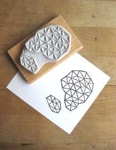 Extase: Crystal Configuration 26 - Hand Carved Stamp