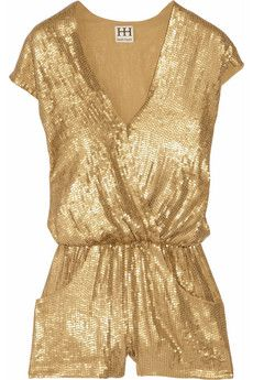 Haute Hippie gold jumpsuit- if i ever went to a rollerskating party i would be all over thid