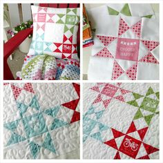 Another happy project! I love the way the colors perfectly match the crochet blanket @hopscotchlane made for me ♥ #modernminisfabric #ohiostars #pillow inspired by @beelori1