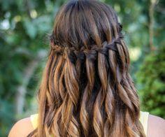 waterfall braid hairstyle