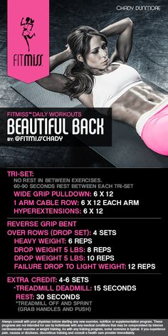 FitMiss Beautiful Back Workout! Find out more at www.facebook.com/iamfitmiss www.twitter.com/iamfitmiss