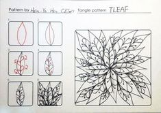 TLEAF ~ a Zentangle #tangle by Hsin-Ya hsu #CertifiedZentangleTeacher