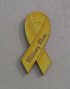 Amazing Pins By Joanie Military Mom Yellow Ribbon USA Lapel HP | EBay