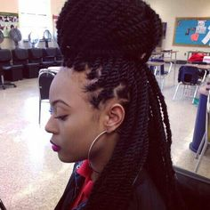 Marley Twists - http://www.blackhairinformation.com/community/hairstyle-gallery/braids-twists/marley-twists/ #braidsandtwists