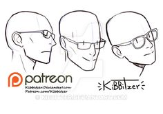 Glasses reference sheet by Kibbitzer on DeviantArt
