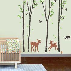Awesome babyzimmer wandgestaltung wandtattoos kinderzimmer gitterbett Kinderzimmer Pinterest