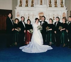 Trisha Schultz Pellegrino, C'93, and Kyle Pellegrino, C'92, married on 12/23/94 at Mount St. Mary's #MountMergers