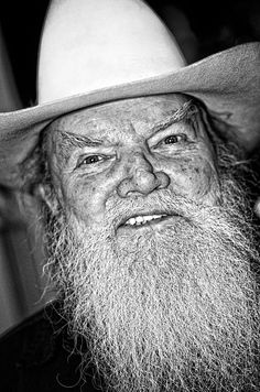 Old Cowboy in Black and White by Andy Crawford on Fine Art America