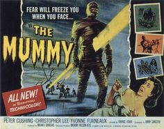 vintage horror movie poster: the mummy 1959