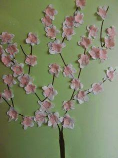10ο Νηπιαγωγείο Τρίπολης (κλασικό τμήμα): ΑΜΥΑΛΗ ΜΥΓΔΑΛΙΑ... School Staff, Spring Theme, Modern Art, Flowers, Tree Of Life, Easter Activities, Contemporary Art, Royal Icing Flowers, Flower