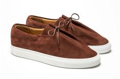 Suede Oxfords, Suede Sneakers, Slip On Sneakers, Suede Leather, Leather Shoes, Black Leather, Shoe Tree, Classic Leather, Shoe Shop