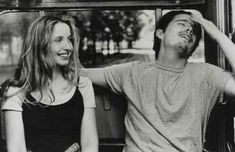 """Julie Delpy and Ethan Hawke in """"Before Sunrise"""", directed by Richard Linklater. Julie Delpy, Before Sunrise Movie, Before Sunset, Movies Showing, Movies And Tv Shows, Vanity Fair, Romantic Pick Up Lines, Before Trilogy, Ethan Hawke"""