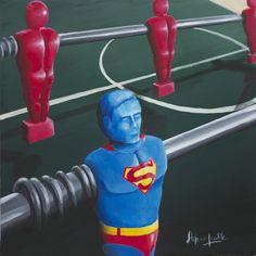 Superman, the man of plastic  stefanogentilenerdart