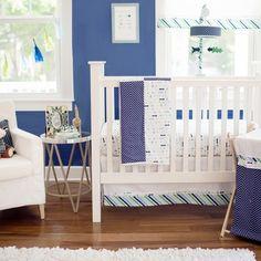 Follow Your Arrow in Navy Crib Bedding Set #rosenberryrooms #boysnursery