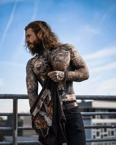 Click the link for more tattoo arts beard tattoo, inked men Cool Tattoos For Guys, Badass Tattoos, Hot Tattoos, Body Art Tattoos, Arabic Tattoos, Neck Tattoos, Dragon Tattoos, Girl Tattoos, Sleeve Tattoos